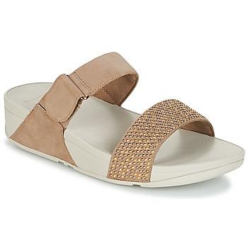 Zapatos Mujer Zuecos (Mules) FitFlop LULU POPSTUD SLIDE SANDAL Beige