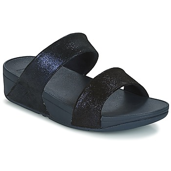Zapatos Mujer Zuecos (Mules) FitFlop SHIMMY SUEDE SLIDE Azul