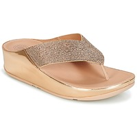 Zapatos Mujer Chanclas FitFlop CRYSTALL Rosa / Gold