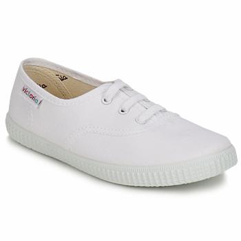 Zapatos Niños Zapatillas bajas Victoria INGLESA LONA KID Blanco