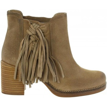 Zapatos Mujer Botines MTNG 94467 Beige