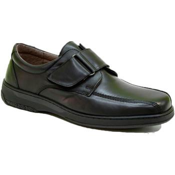 Zapatos Hombre Mocasín Primocx Zapato velcro hombre muy cómodo especial diabéticos negro