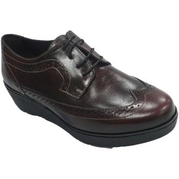 Zapatos Mujer Derbie Sigo Zapato mujer con cordones cuña tipo inglés violeta