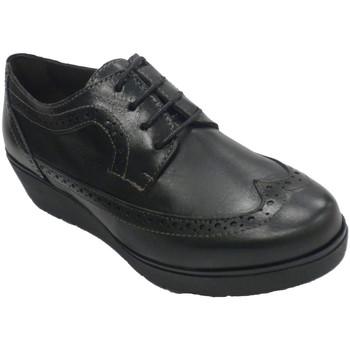 Zapatos Mujer Derbie Sigo Zapato mujer con cordones cuña tipo inglés negro