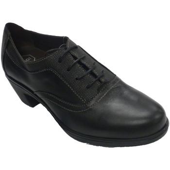 Zapatos Mujer Derbie Sigo Zapato mujer con cordones tacón de goma negro