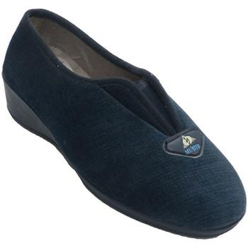 Zapatos Mujer Pantuflas Muñoz Y Tercero Zapatilla mujer cerrada con elástico en empeine azul