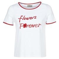 textil Mujer camisetas manga corta Betty London INNATIMBI Blanco / Rojo