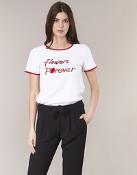 textil Mujer camisetas manga corta Betty London INNATIMBI Blanco / Rojo
