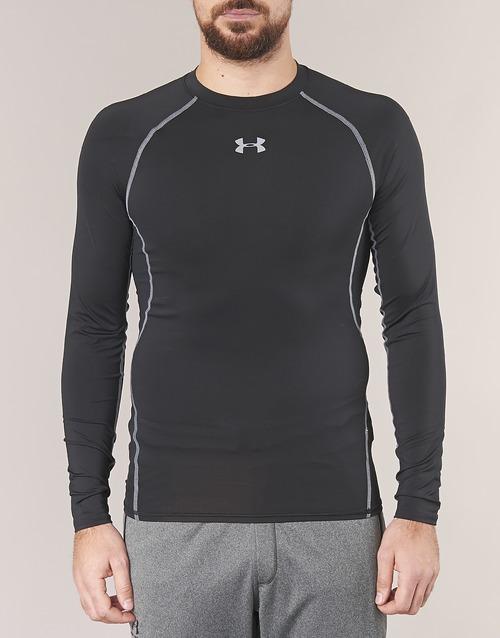 Textil Hombre Camisetas Compression Under Negro Ls Larga Armour Manga YE9DIW2H
