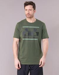 textil Hombre camisetas manga corta Under Armour BLOCKED SPORTSTYLE LOGO Kaki