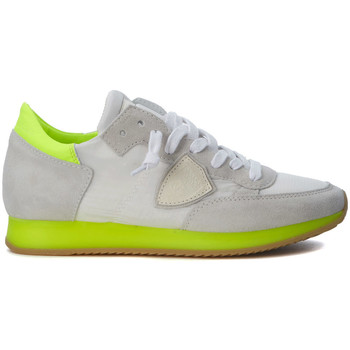 Zapatos Zapatillas bajas Philippe Model Paris Sneaker  Tropez blanca y amarillo fluo Blanco
