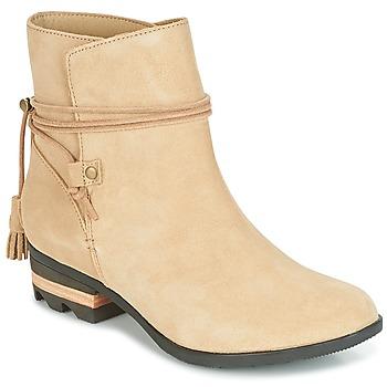 Zapatos Mujer Botas de caña baja Sorel Farah Short Beige