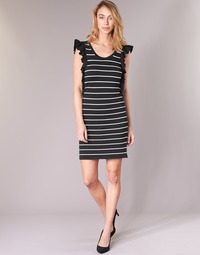 textil Mujer vestidos cortos Vero Moda VMABHY Negro / Blanco