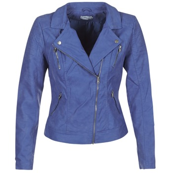 textil Mujer Chaquetas de cuero / Polipiel Only STEADY Azul