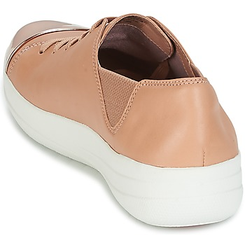 FitFlop F-SPORTY MIRROR-TOE SNEAKERS Nude