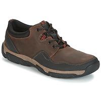 Zapatos Hombre Zapatillas bajas Clarks WALBECK EDGE Brown / Leather