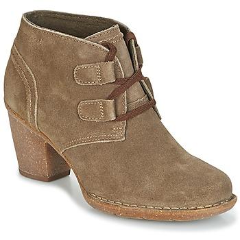 Zapatos Mujer Botines Clarks CARLETA LYON Kaki / Aterciopleado