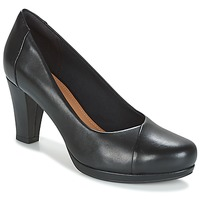 Zapatos Mujer Zapatos de tacón Clarks CHORUS CAROL Negro / Leather