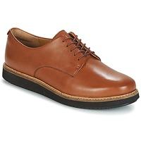 Zapatos Mujer Derbie Clarks GLICK DARBY Dark / Tan / Lea