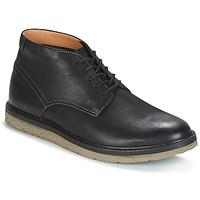 Zapatos Hombre Botas de caña baja Clarks BONNINGTON TOP Negro / Leather