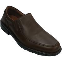 Zapatos Hombre Mocasín Fleximax Zapato hombre con pala lisa marrón