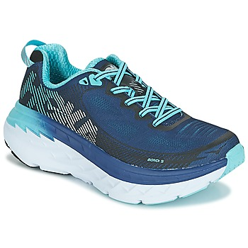 Zapatos Mujer Running / trail Hoka one one BONDI 5 Azul / Negro