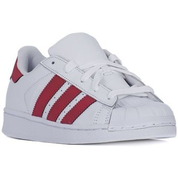 Zapatos Niños Zapatillas bajas adidas Originals Superstar Foundation Blanco