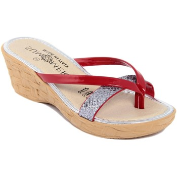 Zapatos Mujer Chanclas Summery  Rosso