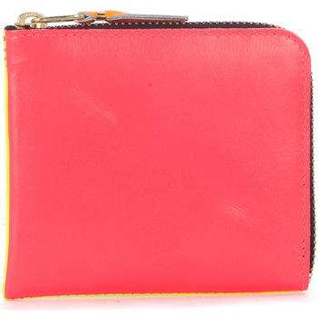 Bolsos Cartera Comme Des Garcons Cartera  en piel rosa y amarillo fluo Multicolor