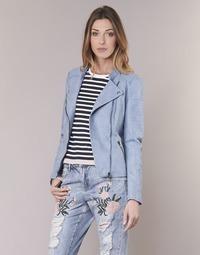 textil Mujer Chaquetas de cuero / Polipiel Only AVA Azul