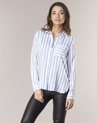 textil Mujer camisas Only CANDY Blanco / Azul