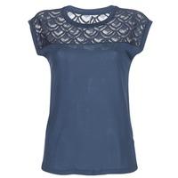 textil Mujer camisetas manga corta Only NICOLE Marino