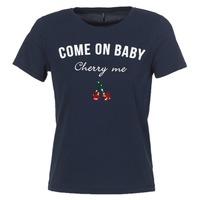 textil Mujer camisetas manga corta Only KITA Marino