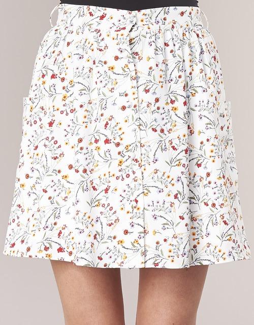London Innama Betty Textil Blanco Faldas Mujer 5R4AL3j