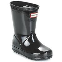 Zapatos Niños Botas de agua Hunter KIDS FIRST CLASSIC GLOSS Negro
