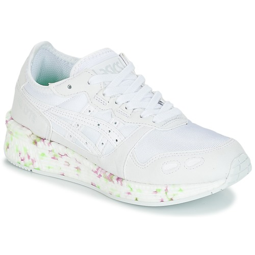 b5f92da5d1d Zapatos Niños Zapatillas bajas Asics HYPER GEL-LYTE GS Blanco   Rosa   Verde
