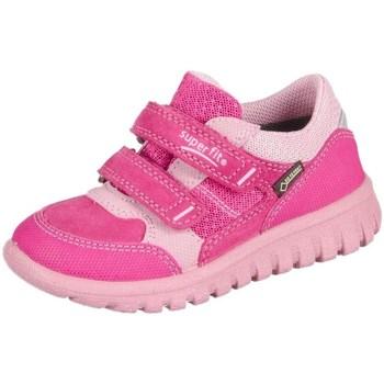 Zapatos Niños Zapatillas bajas Superfit Sport Mini Pink Kombi Velour Tecno Textil