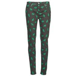 textil Mujer vaqueros slim American Retro TINA Negro / Verde