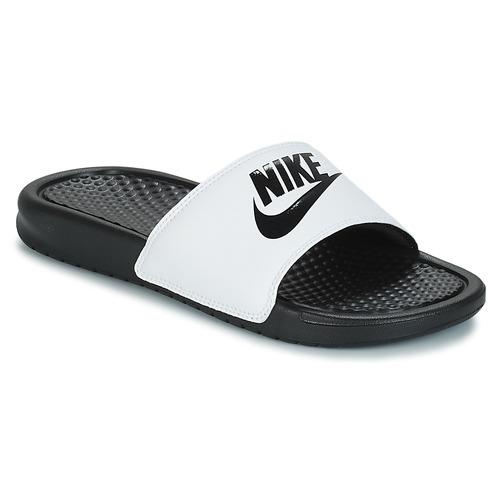Zapatos Hombre Chanclas Nike BENASSI JUST DO IT Blanco / Negro
