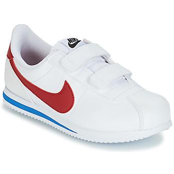 Zapatos Niño Zapatillas bajas Nike CORTEZ BASIC PRE-SCHOOL Blanco / Azul / Rojo