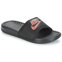 Zapatos Mujer Chanclas Nike BENASSI JUST DO IT W Negro / Oro