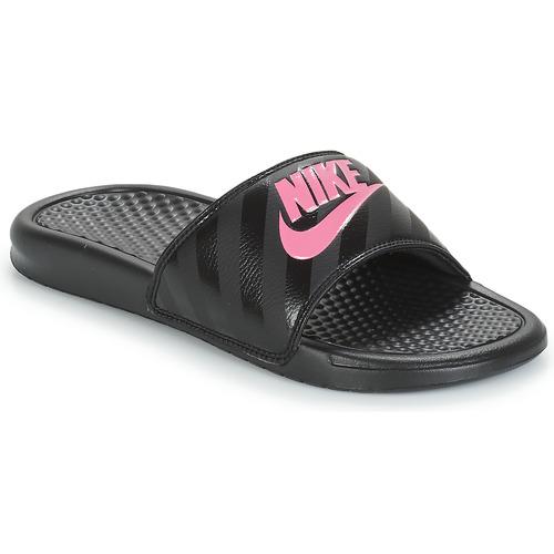 sale retailer 7e27e 40dae Zapatos Mujer Chanclas Nike BENASSI JUST DO IT W Negro  Rosa