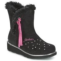 Zapatos Niña Botas de nieve Skechers SPARKLES Negro / Rosa