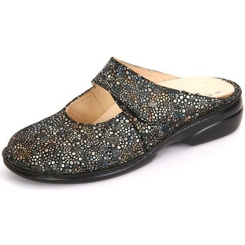 Zapatos Mujer Zuecos (Clogs) Finn Comfort Stanford Multi Miles Negros-Plateado