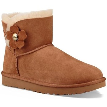 Zapatos Mujer Botas de nieve UGG W Mini Bailey Button Poppy chestnut chestnut