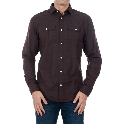 Jack & Jones 12127638 JCOTYLER SHIRT LS FUDGE/ SLIM FIT Burdeos - textil camisas manga larga Hombre