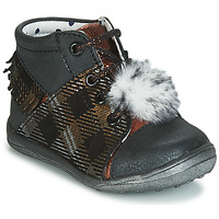 Zapatos Niña Zapatillas altas Catimini PEPITA Negro / Cobre