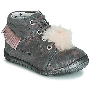 Zapatos Niña Zapatillas altas Catimini PEPITA Gris / Rosa