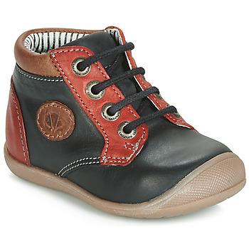 Zapatos Niño Zapatillas altas Catimini RAYMOND Negro / Rojo
