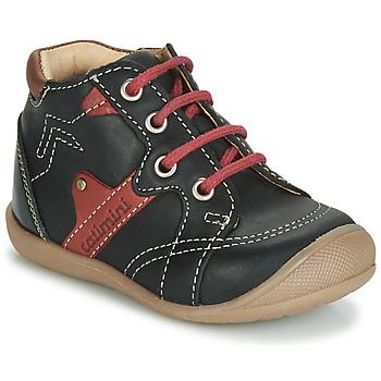Zapatos Niño Zapatillas altas Catimini GASTON Negro / Rojo